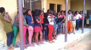 Some of the Nigerian Prostitutes deported from Spain