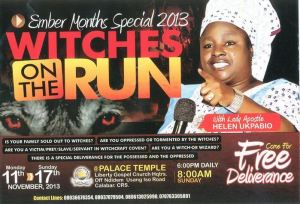 "Helen Ukpabio and her ""witches on the run"""