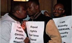 Gay protest in Nigeria,