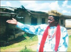 Village head in Ikot Ubo, Nsit Ibium Local Government Area, Akwa  Ibom State, Chief Peter Nduche on hunger strke